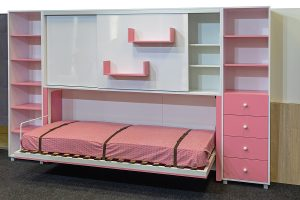 Pink fold up wall beds