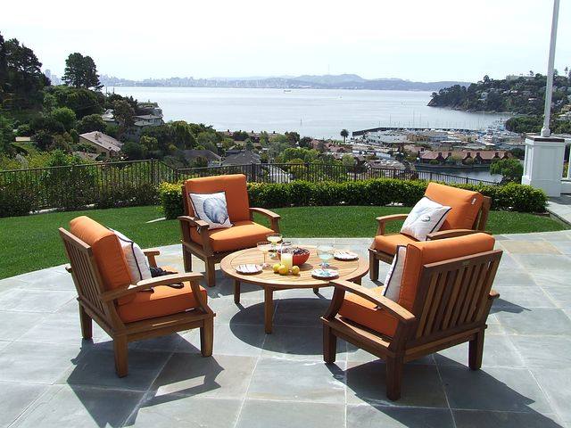 comfortable teak outdoor furniture